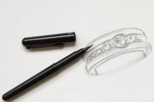 Création sur mesure - Dessin création bijouterie Atelier du Diamant
