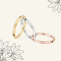 Alliance or jaune,blanc et rose - Atelier du Diamant