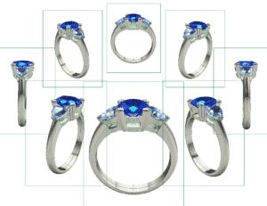 Modélisation 3D - Création sur mesure - Bijoux or et diamants