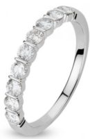 Alliance barrettes or blanc 18 carats et diamants