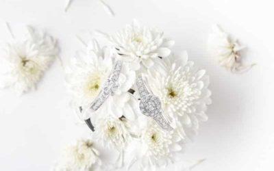 Bagues de fiançailles - Or blanc 18 carats et diamants