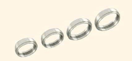4 alliances - Or blanc 18 carats