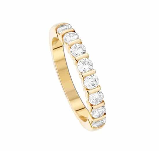 Alliance Mariage Alliance Diamant Or Jaune 18 Carats Grand Modèle