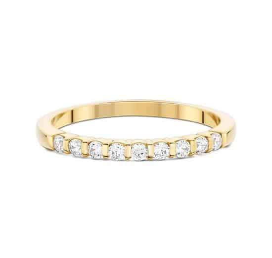 Alliance barrettes - Or jaune 18 carats - Diamants