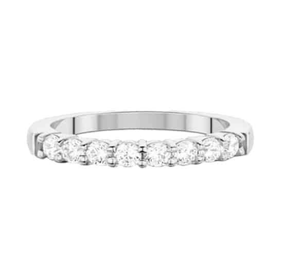 Alliance 2 griffes - Or blanc 18 carats - Diamants