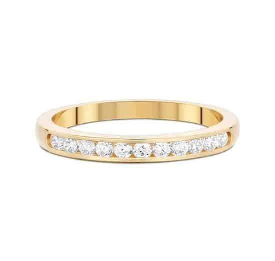 Alliance rail - Or jaune 18 carats - Diamants