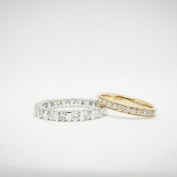 Duo alliances - Or blanc et rose 18 carats