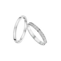 Alliance mariage - Or blanc 18 carats