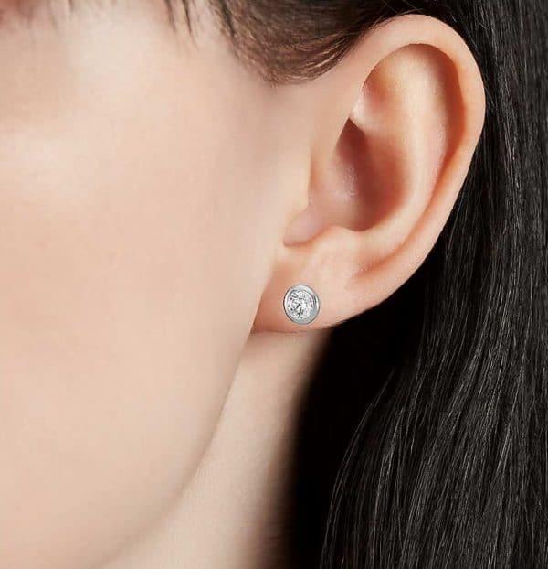 Boucles d'oreilles diamant clos