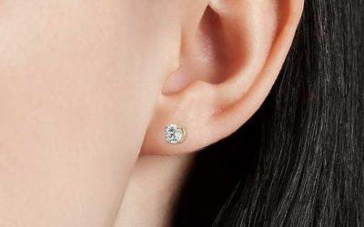 Boucles d'oreilles puces diamant Or