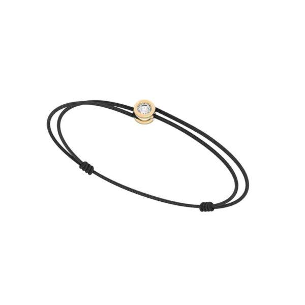 Bracelet cordon diamant - Or jaune 18 carats