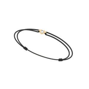 Bracelet cordon diamant coeur - Or jaune 18 carats