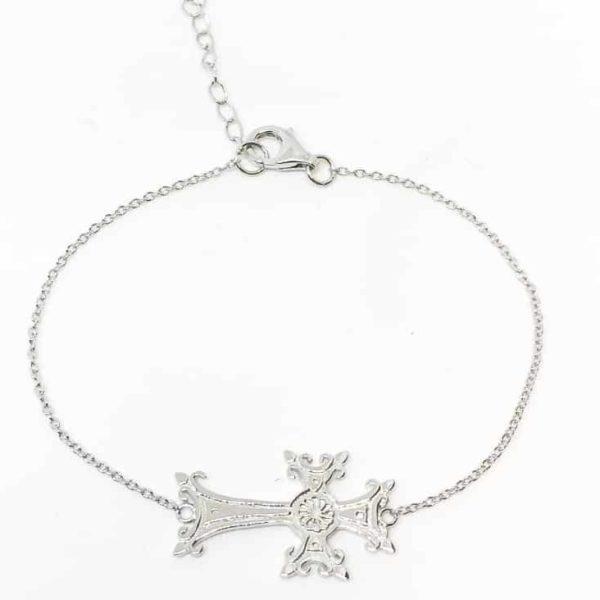 bracelet croix arménienne argent