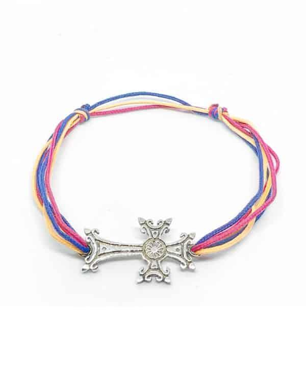 Bracelet cordon croix arménienne
