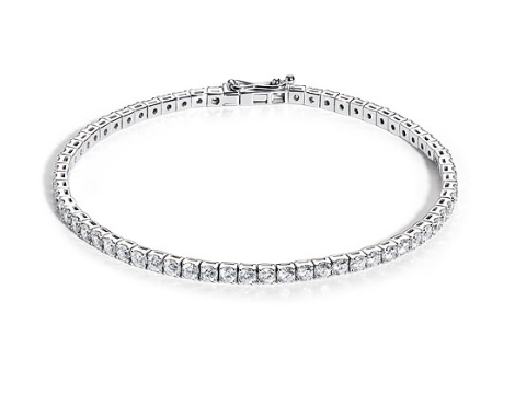 Bracelet rivière diamants or blanc