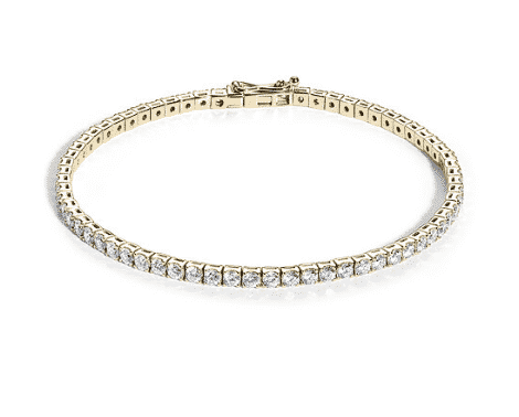 Bracelet rivière diamants or jaune