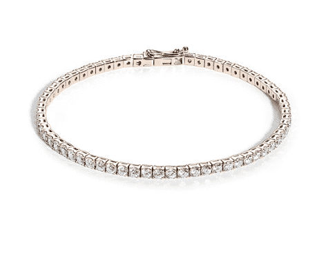 Bracelet rivière diamants or rose
