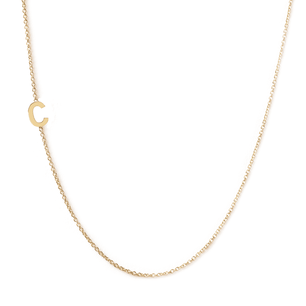 Collier lettre personnalisée - Or jaune 18 carats