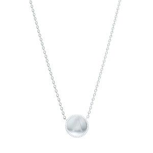 Collier entourage diamants - Or blanc 18 carats