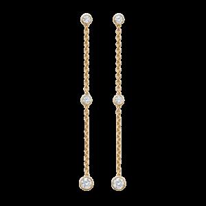 Boucles d'oreilles diamant or jaune
