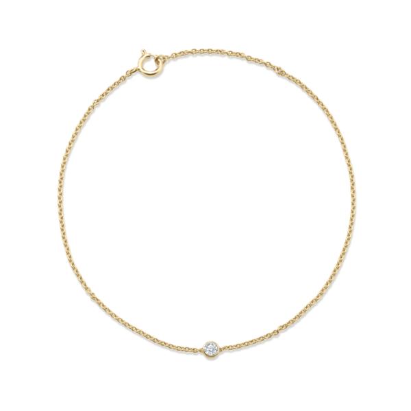 Bracelet diamant or jaune 18 carats