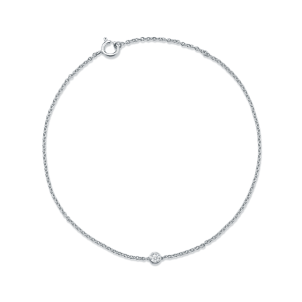 Bracelet diamant or blanc 18 carats