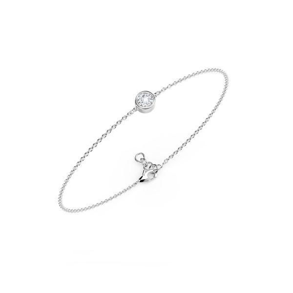 Bracelet diamant or blanc