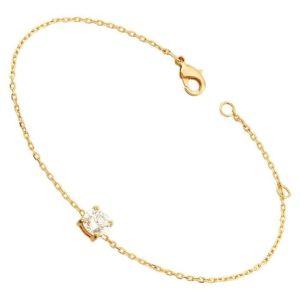 Bracelet diamant or jaune