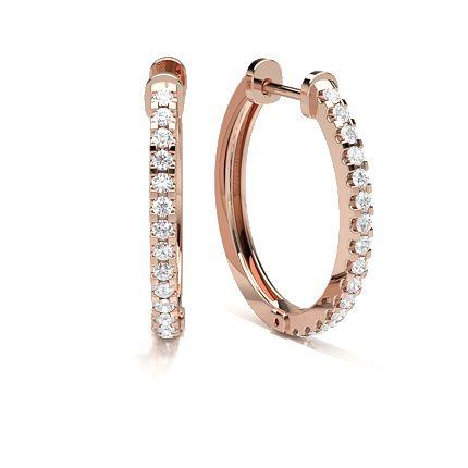 boucles d 39 oreilles diamant cr ole en or atelier du diamant. Black Bedroom Furniture Sets. Home Design Ideas