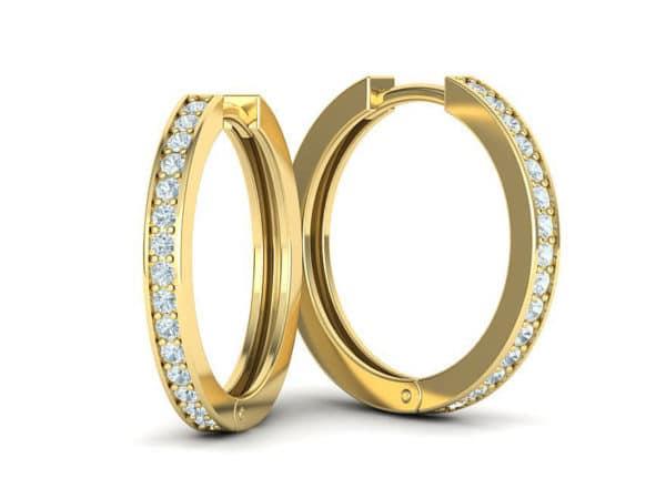 boucles-d-oreilles-creoles-diamant-or-jaune-serti-grain-petit-modele