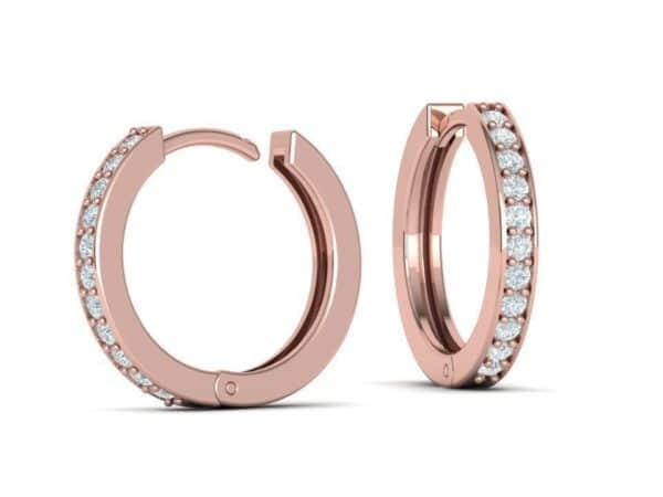 boucles-d-oreilles-creoles-diamant-or-rose-serti-grain