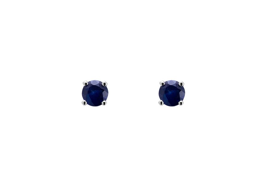 boucle d 39 oreille saphir boucle d 39 oreille puces or blanc atelier du diamant. Black Bedroom Furniture Sets. Home Design Ideas