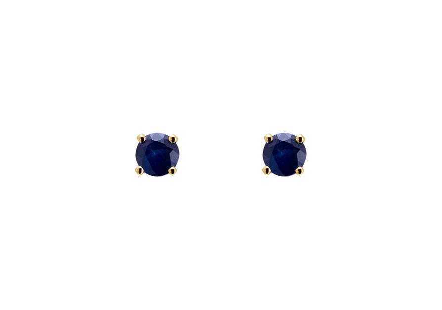 boucle d 39 oreille saphir boucle d 39 oreille puces or jaune atelier du diamant. Black Bedroom Furniture Sets. Home Design Ideas