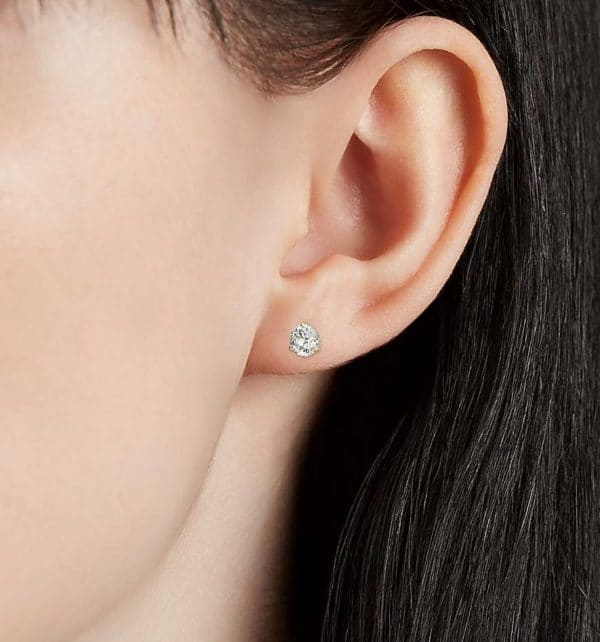 Boucles d'oreilles diamant puces