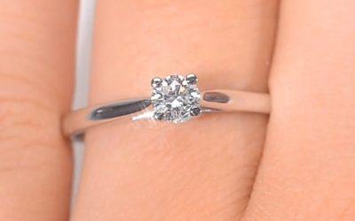 Solitaire diamant - Bague solitaire diamant Or blanc(3)