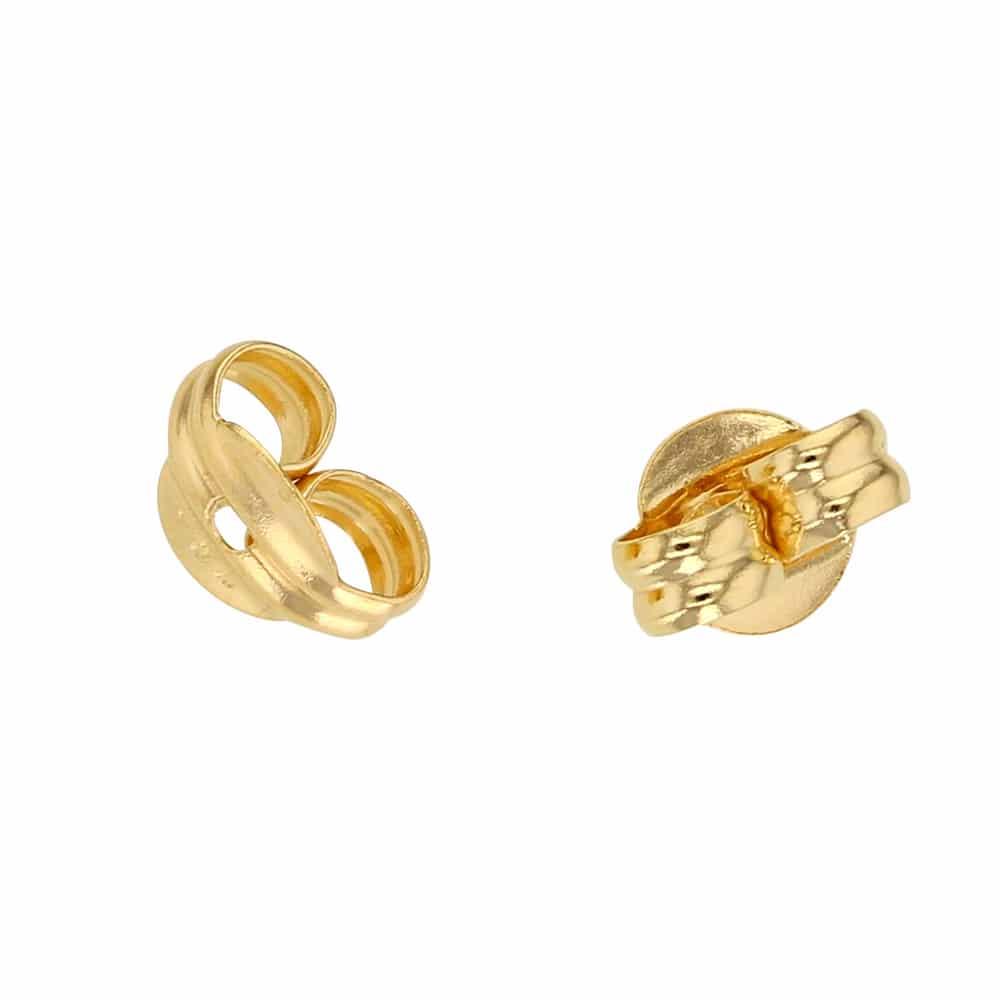 Meilleure vente dernier dernière conception Fermoir Boucle d'oreille Or jaune 18 carats - Fermoir Poussette