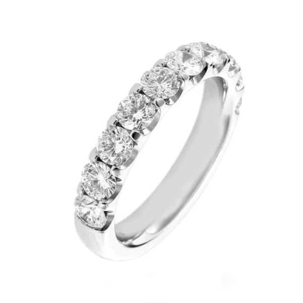 Alliance diamant en Or blanc