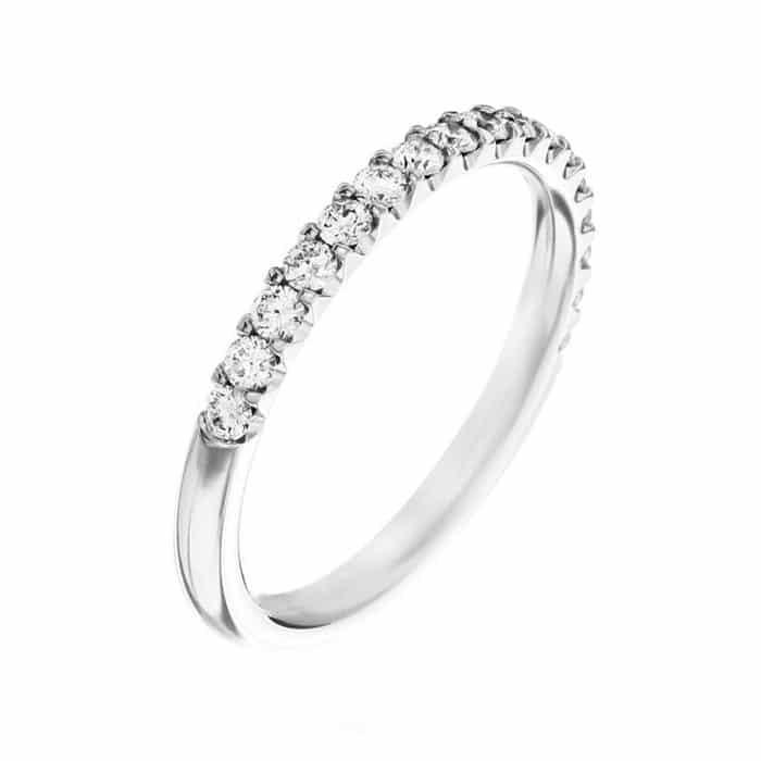 Alliance Diamant Or Blanc 18 Carats Alliance Diamant Mariage