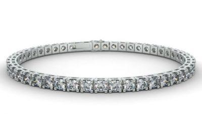 Bracelet diamant rivière Or blanc 8 carats