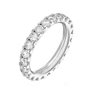Alliance diamant Tour complet - Alliance mariage Or blanc