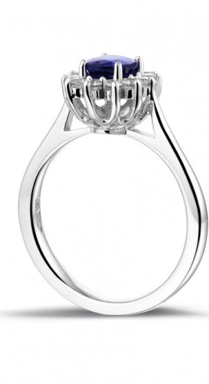 Bague-saphir-entourage-diamant-Or-blanc-18-carats-Bague-de-fiancailles(3)
