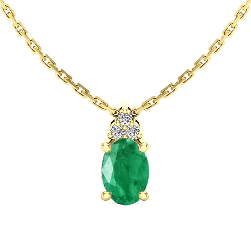 Pendentif-diamant-emeraude-ovale-or-jaune