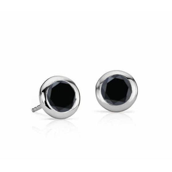 Boucles-doreilles-diamant-noir-clos-Or-blanc