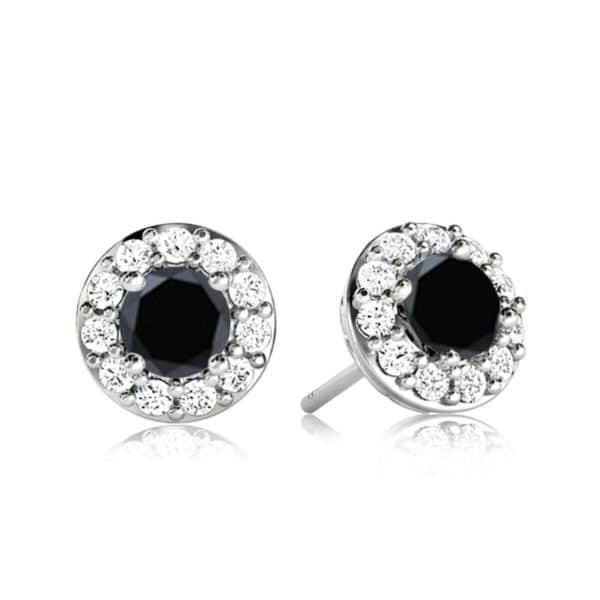 Boucles-doreilles-diamant-noir-entourage-Or-blanc